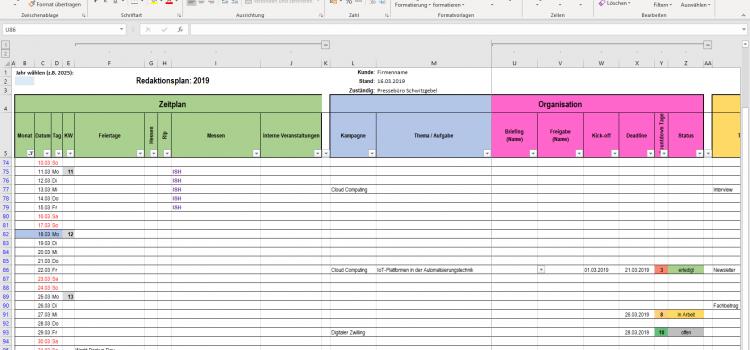 Der Redaktionsplan in der B2B-Kommunikation
